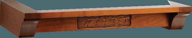 Fa szegély faragott mintával 1